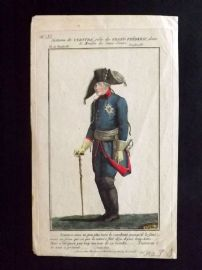 Aaron Martinet C1820 Hand Col Theatre Print. Frederick the Great of Prussia